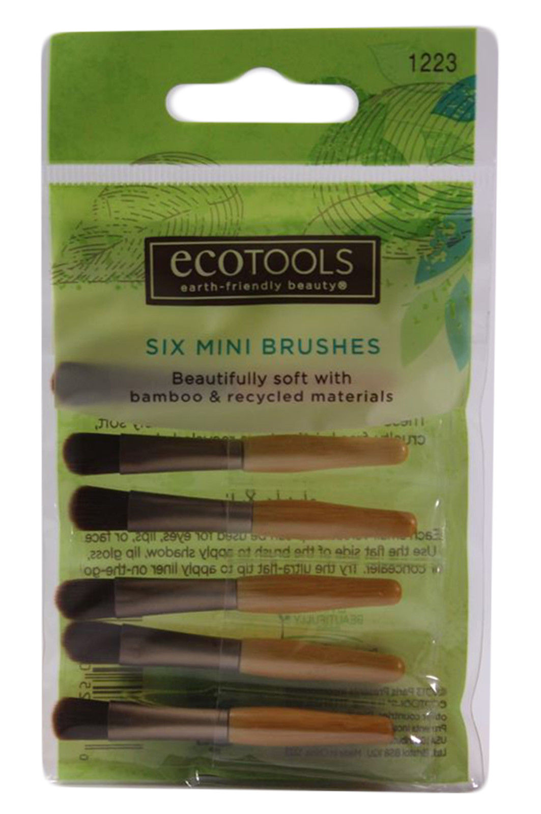Bamboo Makeup Brushes: 6 EcoTools Bamboo Mini Cosmetic Makeup Brushes Eye Shadow